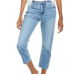 Frame Denim Le Beau Loose Fit Cropped Jeans